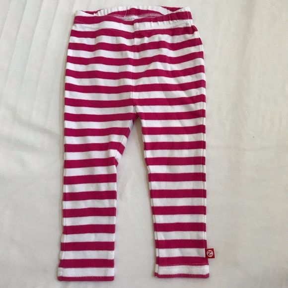 Zutano Other - Zutano 18 mo Striped white & pink pants